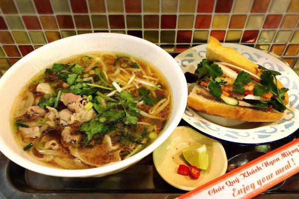 Phở+bánh mì half set    フォーとバインミーハーフサイズのセット