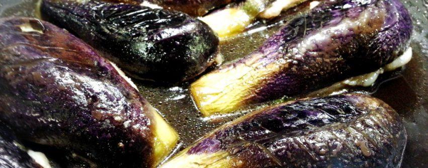 茄子de豚肉とシソの挟み焼き