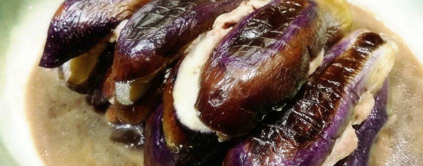 茄子の豚シソ挟み煮